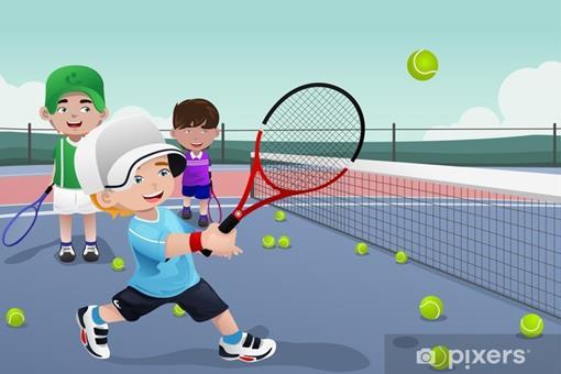 fotobehang-kids-in-tennis-praktijk.jpg.jpg