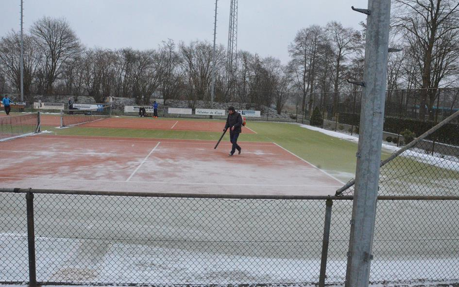 Voorjaarstoernooi 2018 sneeuw