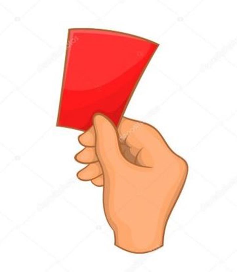 Boete rode kaart