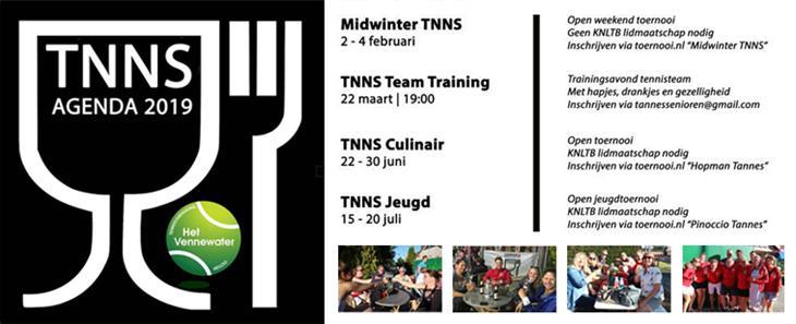 Planning TNNS evenementen 2019 bekend!